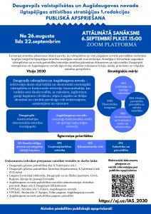 Uzsākta Daugavpils valstspilsētas un Augšdaugavas novada ilgtspējīgas attīstības stratēģijas 1. redakcijas publiskā apspriešana
